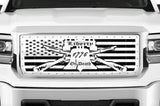 GMC Sierra Stainless Steel Grille ('14-'15) LIBERTY OR DEATH - RacerX Customs