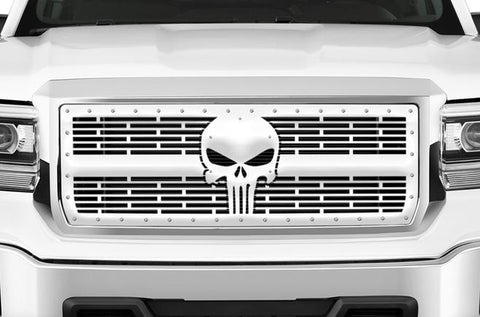 GMC Sierra Stainless Steel Grille ('14-'15) PUNISHER - RacerX Customs
