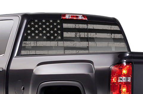 Chevy Silverado Rear Window Decal Graphics (2014-2017) SUBDUED - RacerX Customs