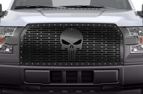 Ford F150 Black Steel Grille ('15-'17) PUNISHER - RacerX Customs