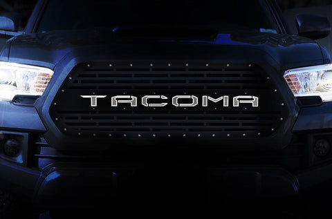 Toyota Tacoma Steel Grille ('16-'17) with TACOMA X-LITE - RacerX Customs