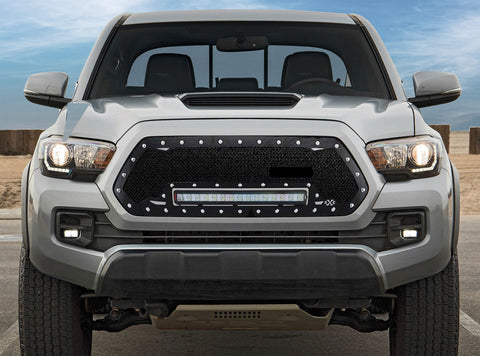 Toyota Tacoma Custom Grille with LED Bar (2016-2019) RC1X - RacerX Customs