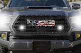 Toyota Tacoma Grille w/ Spot, Flood, LED Pods & Stainless Steel Outlined USA-TRD (2018-2019) - RacerX Customs