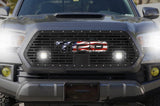 Toyota Tacoma Grille with Spot & Flood LED Pods & USA-TRD Logo (2018-2019) - RacerX Customs