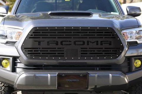 Toyota Tacoma Steel Grille with TACOMA Logo (2018-2019) - RacerX Customs