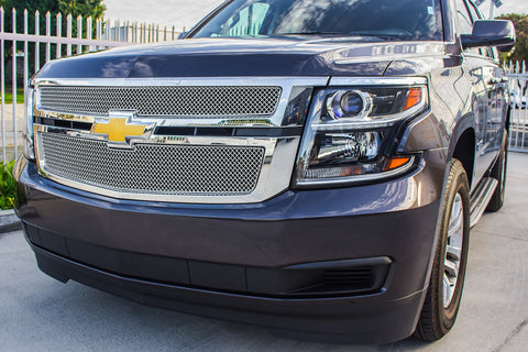 Chevy Tahoe LTZ Grille - Stainless Steel Mesh Grille (2015-2016) - RacerX Customs