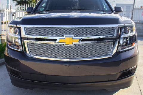 Chevy Suburban Stainless Steel Mesh Grille (2016-2019) MX-Series - RacerX Customs