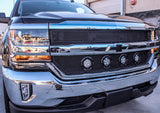Chevy Silverado Grille with 4 LED Lights - Stainless Steel Mesh (2016-2018) - RacerX Customs