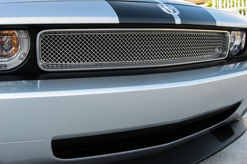 Dodge Challenger Mesh Grille (2008-2014) Stainless Steel - SW Series - RacerX Customs