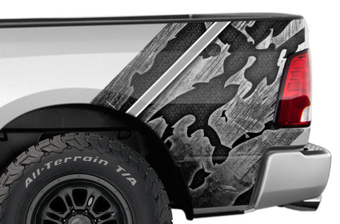 Dodge Ram Quarter Panel Graphics-Wrap Kit - Vinyl (2009-2018) SHREDDED - RacerX Customs