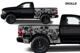Dodge Ram 6.5 Bed Wrap (2009-2018) Vinyl - Skulls - RacerX Customs