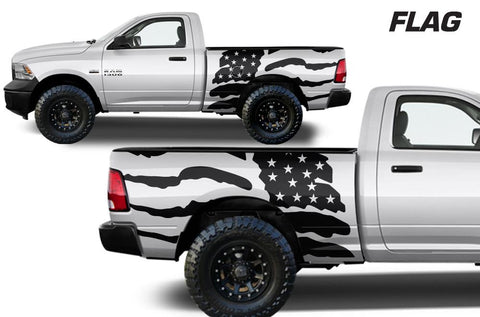 Dodge Ram 6.5 Bed Wrap (2009-2018) Vinyl - American Flag - RacerX Customs