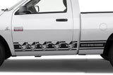Dodge Ram with 6.5' Bed (2009-2018) Rocker Panel Stripes - Skulls - RacerX Customs