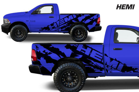 Dodge Ram 6.5 Bed Wrap (2009-2018) Vinyl - Hemi - RacerX Customs