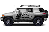Toyota FJ Cruiser Wrap Kit - Vinyl - American Flag (2007-2014) - RacerX Customs