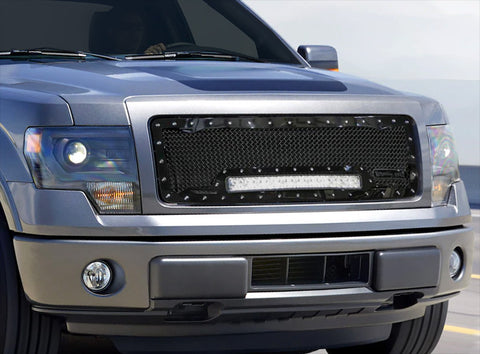 Ford F150 Custom Grille with LED Bar (2009-2012) RC1X - RacerX Customs