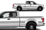 Ford F150 SuperCab 6.5 Vinyl Stripes Wrap (2015-2018) Side Stripes - RacerX Customs