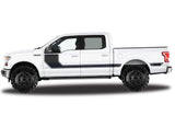 Ford F150 SuperCrew 5.5 Vinyl Stripes (2015-2018) Rally Stripes #1 - RacerX Customs