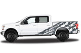 Ford F150 SuperCrew 5.5 Wrap (2015-2018) Vinyl - Shred - RacerX Customs