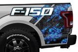 Ford F150 Quarter Panel Graphics-Wrap (2015-2018) BLUE DIGI-CAMO - RacerX Customs