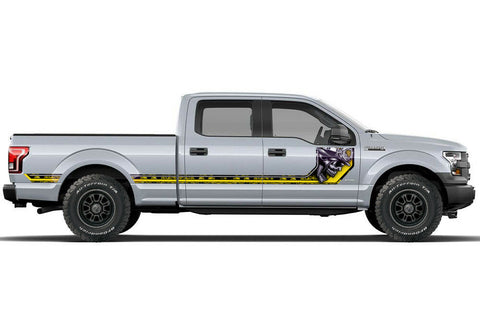 Ford F150 Side Stripe Graphics (2015-2018) HAVOC Yellow - RacerX Customs