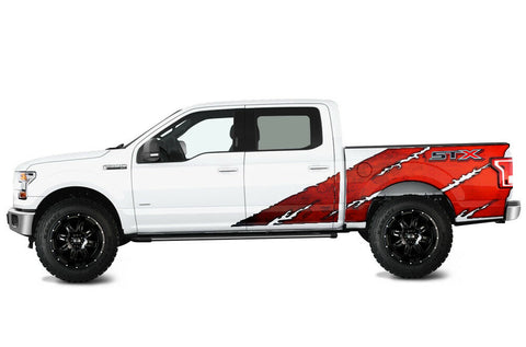 Ford F150 STX Graphics-Wrap (2015-2018) RED - RacerX Customs