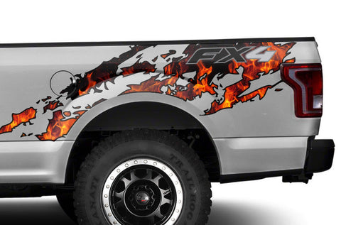 Ford F150 Graphics-Wrap (2015-2018) FX4 FIRE - RacerX Customs