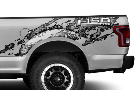 Ford F150 Graphics-Wrap (2015-2018) GEARS - RacerX Customs