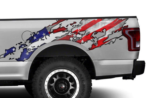 Ford F150 Graphics-Wrap (2015-2018) AMERICAN FLAG - RacerX Customs