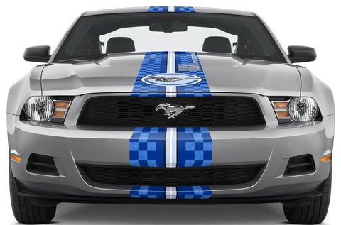Ford Mustang Racing Stripes Graphic Kit (2010-2014) CHECKERED FLAG - RacerX Customs