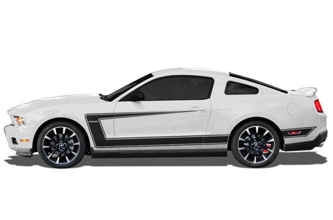 "Ford Mustang Vinyl Side Stripes (2010-2014) ""Ford"" C-Stripes - RacerX Customs"