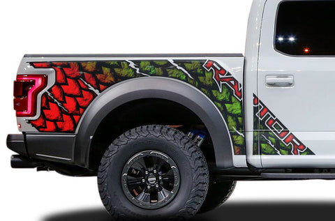 Ford Raptor Graphics Wrap Kit (2015-2018) SCALES - RacerX Customs