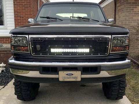 Ford Super Duty Custom Grille with LED Bar (1992-1998) RCRX - RacerX Customs