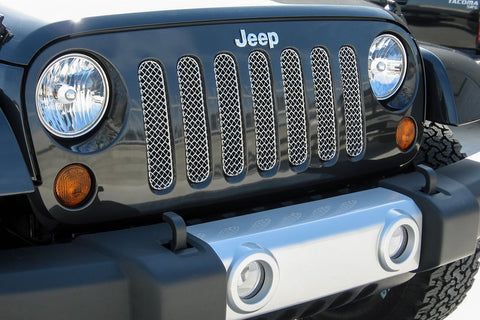 Jeep Wrangler Steel Mesh Grille (2015-2016) SW Series - RacerX Customs