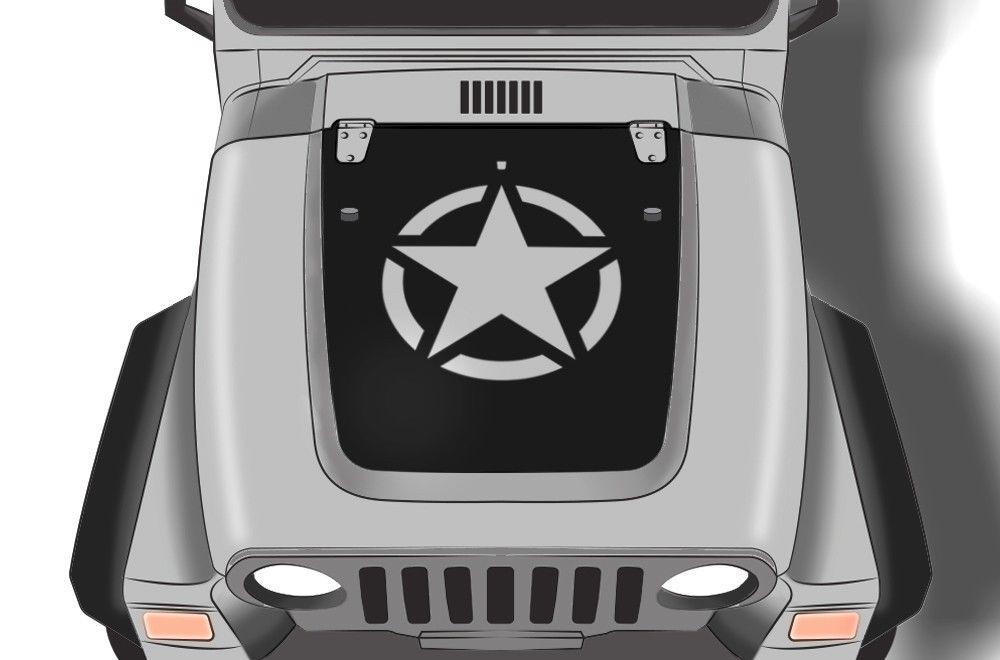 [SCHEMATICS_4US]  Jeep Wrangler Hood Wrap - US Army Star – RacerX Customs | Truck Graphics,  Grilles and Accessories | 2006 Jeep Wrangler Hood |  | RacerX Customs