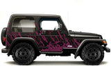 Jeep Wrangler Vinyl Wrap Kit (1999-2006) Burst - RacerX Customs