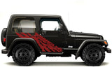 Jeep Wrangler Vinyl Wrap Kit (1999-2006) Torn - RacerX Customs