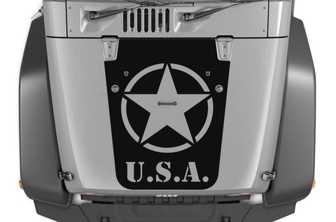Jeep Wrangler Vinyl Hood Wrap (2007-2016) Army Star - RacerX Customs