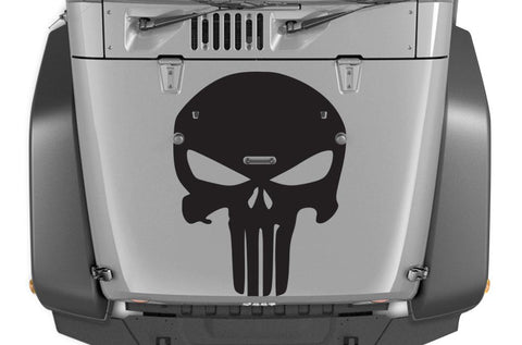 Jeep Wrangler Vinyl Hood Wrap (2007-2016) Punisher - RacerX Customs
