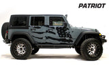 Jeep Wrangler 4-Door Vinyl Wrap (2007-2016) American Flag - RacerX Customs