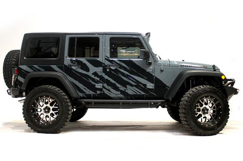 Jeep Wrangler 4-Door Vinyl Wrap Kit (2007-2016) Shred - RacerX Customs