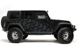 Jeep Wrangler 4-Door Vinyl Wrap Kit (2007-2016) Tire Tracks - RacerX Customs