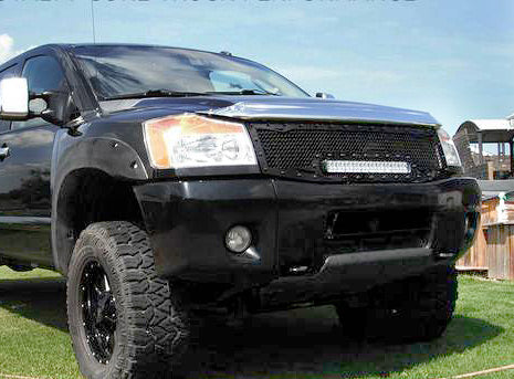 Nissan Titan Custom Grille with LED Bar (2004-2015) RC1X - RacerX Customs