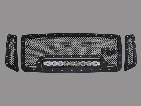Nissan Titan Custom Grille with LED Bar (2016-2019) RC1X - RacerX Customs