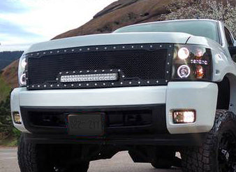 Nissan Armada Grille with LED Bar (2008-2016) RC1X - RacerX Customs