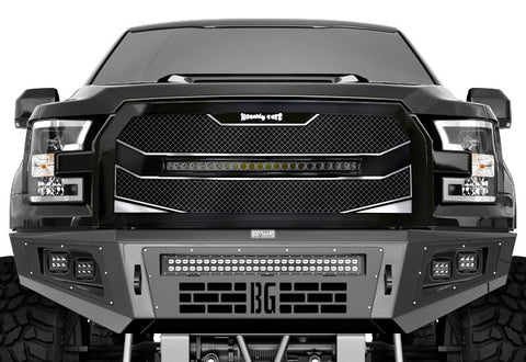 Ford Raptor Custom Grille with LED Bar (2017-2019) RC4X - RacerX Customs