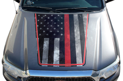 Toyota Tacoma Hood Graphics (2005-2015) THIN RED LINE - RacerX Customs