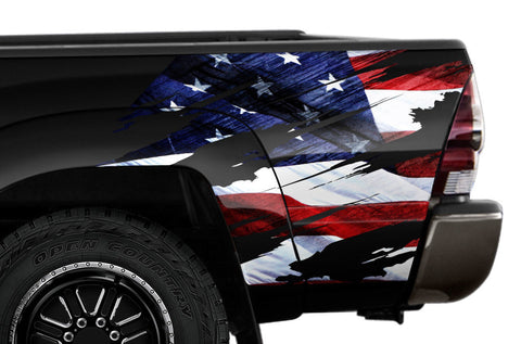 Toyota Tacoma Quarter Panel Graphics (2005-2015) AMERICAN FLAG - RacerX Customs
