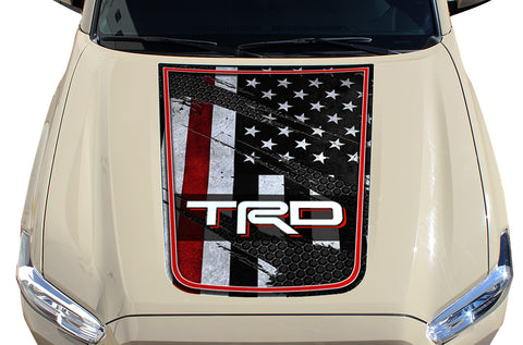 Toyota Tacoma Hood Graphics (2016-2018) THIN RED LINE w/ TRD - RacerX Customs