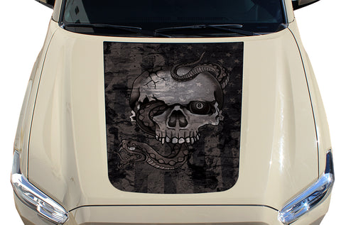 Toyota Tacoma Hood Graphics (2016-2018) AMERICAN SKULL - RacerX Customs